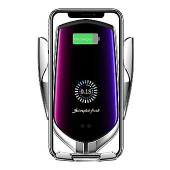 Bakeey 10w qi carregador sem fio carregador rápido grampo de ar de ventilação porta-telefone do carro para 4.0-6,5 polegadas telefone inteligente para iphone 11 para samsung note 10