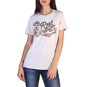 Superdry Original Women All Year T-Shirt - Brown Color 37774