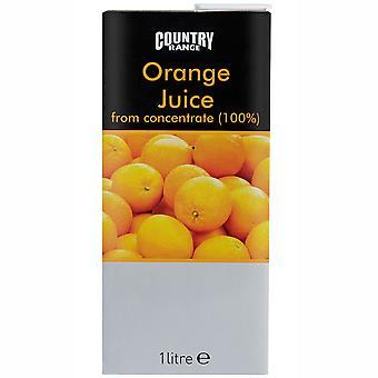Country Range Orange Fruit Juice Cartons