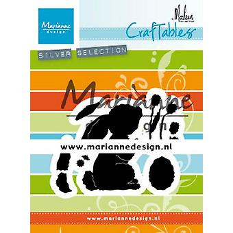 Marianne Design Craftables Leikkausvat - Pupu By Marleen CR1498 71x57mm