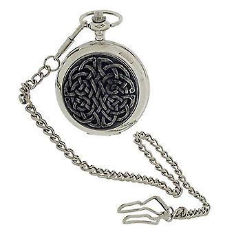 Boxx Gents 'Never Ending Knot' Design Cover Pocket Watch 14 Inch Chain BOXX398