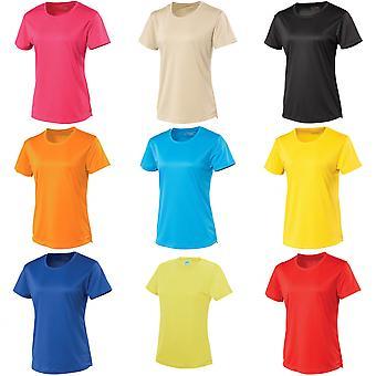 Just Cool Womens/Ladies Sports Plain T-Shirt