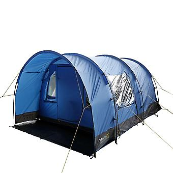 regatta karuna 4 persons tunnel tent nautical with front canopy blue with cable