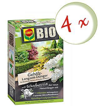 Sparset: 4 x COMPO BIO madeira de longo prazo fertilizante com lã de ovelha, 750 g