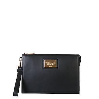 Versace Dp87631vit88d41tr Uomini's Frizione in pelle nera