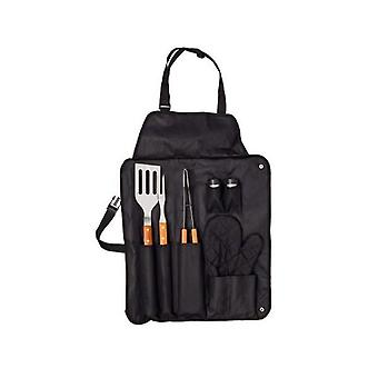 Apron with Barbecue Utensils (7 pcs)