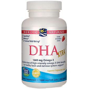 Nordic Naturals DHA Xtra Strawberry 1000 mg 60 Capsule