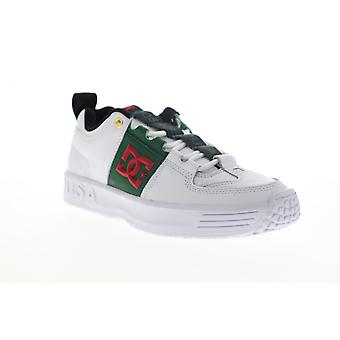 DC Lynx OG  Mens White Leather Lace Up Skate Sneakers Shoes