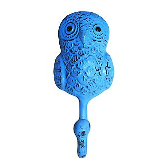 Metal Hook - Owl - Blue