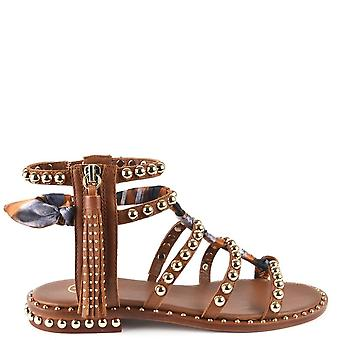 Ash Footwear Pareo Brown Leather Studded Sandals