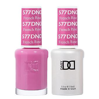 DND Duo Gel & Nail Polish Set - French Rose 577 - 2x15ml