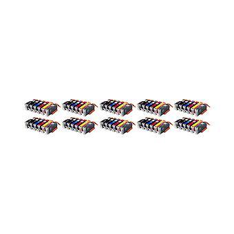 روديتوس 10 × الاستبدال لكانون PGI-550 + CLI-551 تعيين الحبر وحدة أرجواني آند هيغييلدبلاكفوتوبلاكجرييسيانييلوو متوافق مع Pixma iP7250، iP8750، iX6850، MG5450، MG5550، MG6350، MG6450، MG7150، MX7