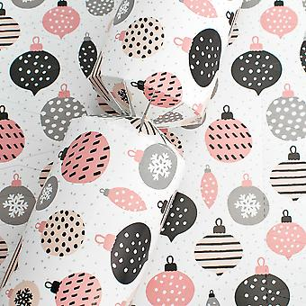 10 Polka Pink Christmas Basic Cracker Boards & Snappy Strimler - Lag din egen