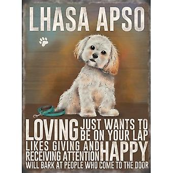 Lhasa Apso Metal Sign