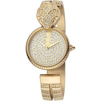 Just Cavalli Glam Chic Snake Watch JC1L086M0025 - Plated Stainless Steel Ladies Quartz Analogue