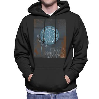 The Crystal Maze Good Feeling Rust Panel Men's Hooded Sweatshirt
