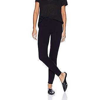 Brand - Daily Ritual Women's Faux 5-Pocket Ponte Knit Legging, Navy, Medium Long