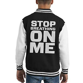 Stop Breathing On Me Kid's Varsity Jacket