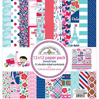 Doodlebug Design Français Kiss 12x12 Inch Paper Pack
