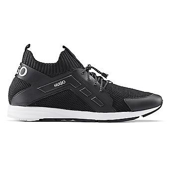 Hugo Boss Footwear Hugo Boss Men's Black Hybrid Runn Kncg Trainers