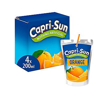 5 x 800ml Capri Sun Orange Fruit Juice Vegan Vegetarian Lunch Drink