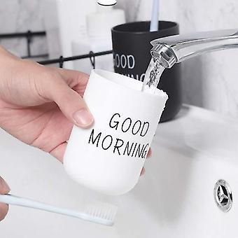 Soporte de cepillo de dientes de la taza de lavado portátil nórdica simple para el baño