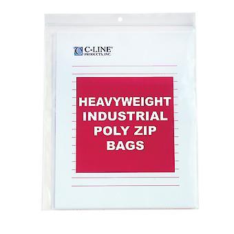 47911, Heavyweight Industrial Poly Sacchetti di zip, 8 1/2 x 11, 50/BX, 47911
