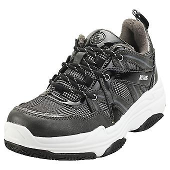Mustang Lace Up Low Top Sneaker Womens Platform Trainers in Graphite