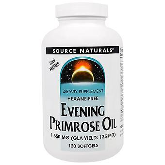 Fuente Naturales, Aceite de Primrose, 1.350 mg, 120 Softgels