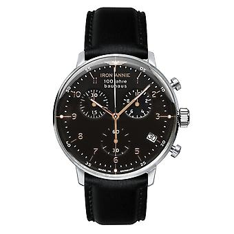Iron Annie 5096-2 Bauhaus Black Dial With Chronograph Wristwatch
