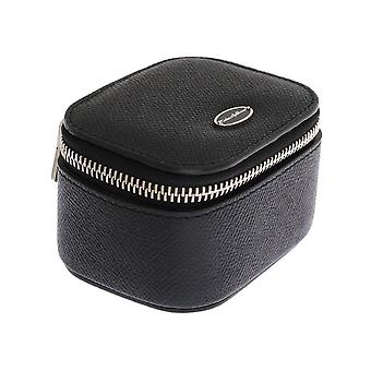 Black leather organizer case box