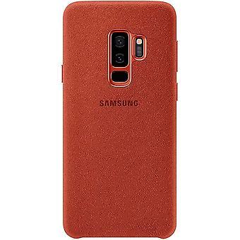 Samsung EF-XG960AR Alcântara Capa Capa protetora para Galaxy S9 Vermelho