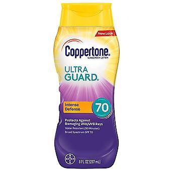 Coppertone ultra guard sunscreen lotion, spf 70, 8 oz *