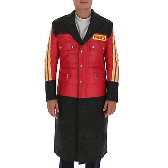 Junya Watanabe C0170511 Manteau en polyester rouge Pour homme