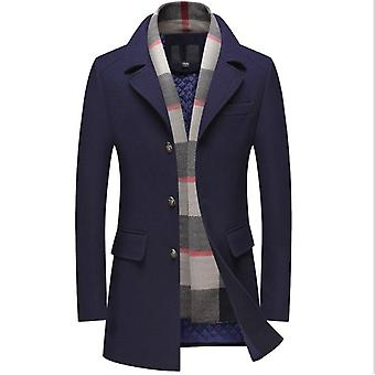 Mens Wool Blend Trench Coat