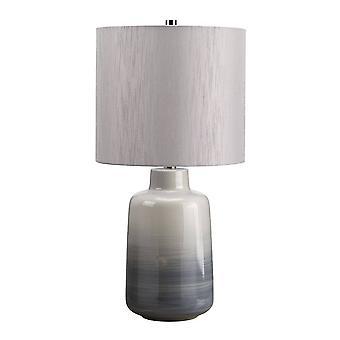 1 Lampe légère de petite table grise, bleue, E27