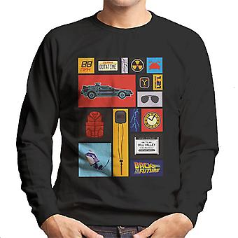 Back to the Future Tile Montage Men's Sweatshirt