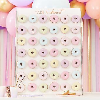 Riesige große Donut Wand Display Stand - Party Herzstück hält 42 Donuts