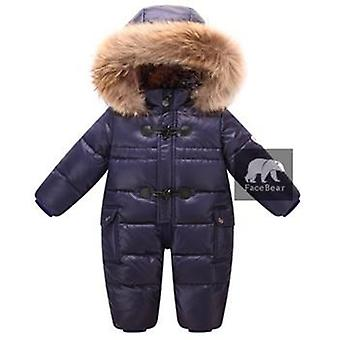 Designed For Russian Winter Baby Snowsuit 90% Duck Down Jacket For Girls Coats Winter Park Snowsuit