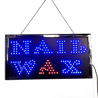 Nail Wax Led Neon Light Open Sign Twinkling Sparking Lights For Salon