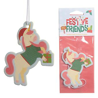 Christmas Cookie Festive Friends Unicorn Air Freshener