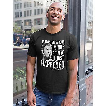 Talladega Nights Just Happened Men's Black T-shirt