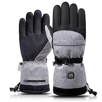 Electric Heating Snowmobile Snowboard Ski Gloves- Snow Mittens Windproof Men /