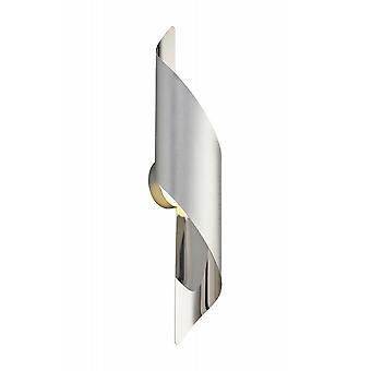 Gracie Wall Lamp Large, 8w Led, 3000k, 640lm, Zilver/gepolijst Chroom, 3 jaar garantie