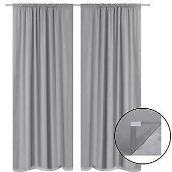 vidaXL Blackout curtains 2 pcs. double layer 140 x 175 cm Grey