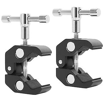 TRIXES Crab Clamp 2PC Mount Stand Desk Wall Holder with Professional Thread