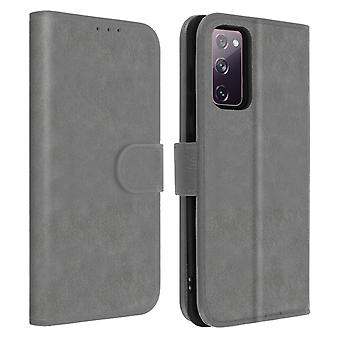 Back Cover for Samsung Galaxy S20 FE full cover with support function - Grey