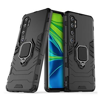 Keysion Xiaomi Redmi Note 9 Case - Magnetic Shockproof Case Cover Cas TPU Black + Kickstand