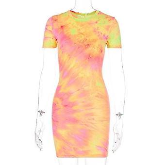 Sexig ärmlös slip Bodycon klänning kvinnlig tryckt wrap