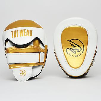 Tuf Wear Victor Gel Curved Hook & Jab Pad White / Gold